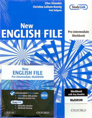 New ENGLISH FILE Pre-inter Workbook +MultiROM pack